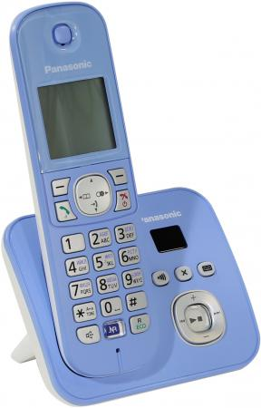 Радиотелефон DECT Panasonic KX-TG6821RUF синий радиотелефон dect panasonic kx tg6811rum серебристый