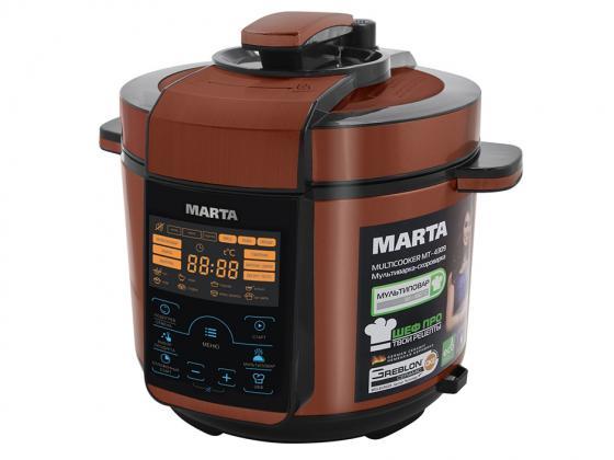 Мультиварка Marta MT-4309 900 Вт 5 л черный красный набор столовых приборов marta mt 2701 twinkle