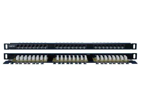 """Патч-панель Hyperline PPHD-19-48-8P8C-C6-110D высокой плотности 19"""" 1U 48 порта RJ-45 категория 6 Dual IDC патч панель hyperline pphd 19 48 8p8c c5e 110d высокой плотности 19"""