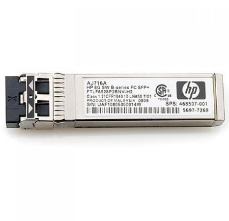 Трансивер HP 16Gb SFP+SW XCVR QK724A трансивер hp 8gb short wave fc sfp 1 pack aj718a