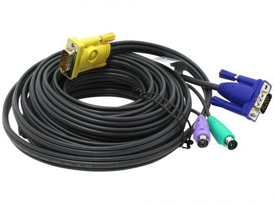Кабель ATEN 2L-5206P 6м черный кабель aten 2l 5303u hd15m usbm sp sp sphd15m 3m