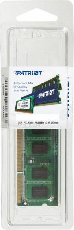 Оперативная память для ноутбуков SO-DDR3 2Gb PC12800 1600MHz Patriot память оперативная ddr2 amd 2gb 800mhz r322g805u2s ugo