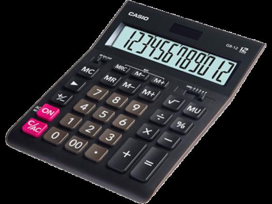 Калькулятор Casio GR-12 12-разрядный черный калькулятор casio dh 12 коричневый черный