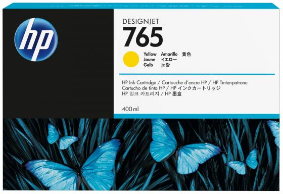 Картридж HP F9J50A №765 для HP Designjet T7200 желтый 400мл картридж hp f9j53a 765 для hp designjet t7200 серый 400мл