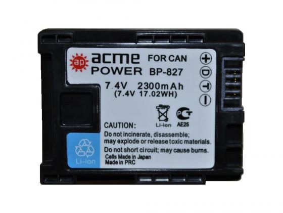 Аккумулятор AcmePower AP-BP-827 для фотокамеры CANON аккумулятор craftmann для nokia bp 6m 1150mah craftmann