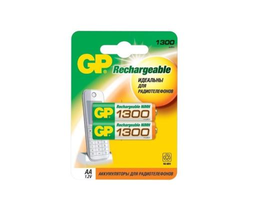 Аккумулятор 1300 mAh GP 130AAHC-2CPCR2 AA 2 шт аккумулятор 2300 mah gp 230aahc aa 2 шт
