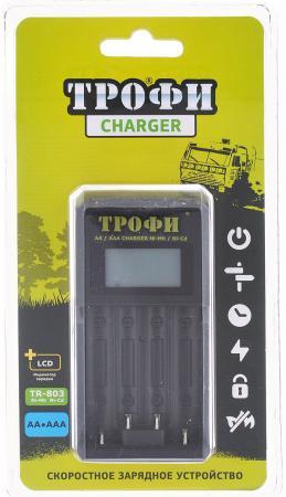 Зарядное устройство ТРОФИ TR-803 LCD скоростное AA/AAA зарядное устройство трофи tr 600