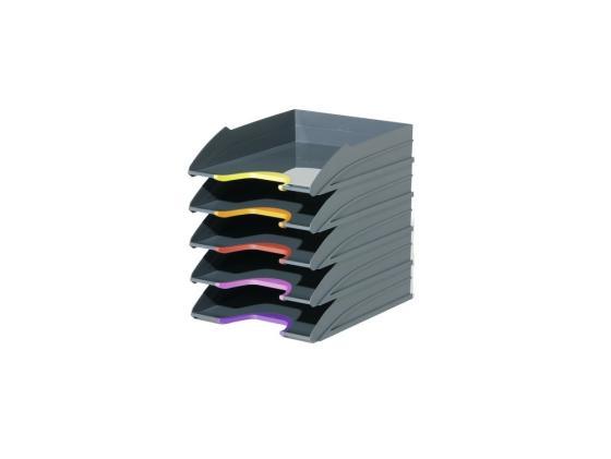 Набор лотков Durable VARICOLOR пластик серый 5шт 7705-57