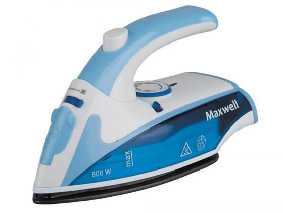 Утюг Maxwell MW-3050-B 800Вт синий утюг maxwell mw 3056 b 2200вт синий