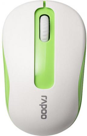 Мышь беспроводная Rapoo M10 белый зелёный USB мышь rapoo n1162 белый usb 13702