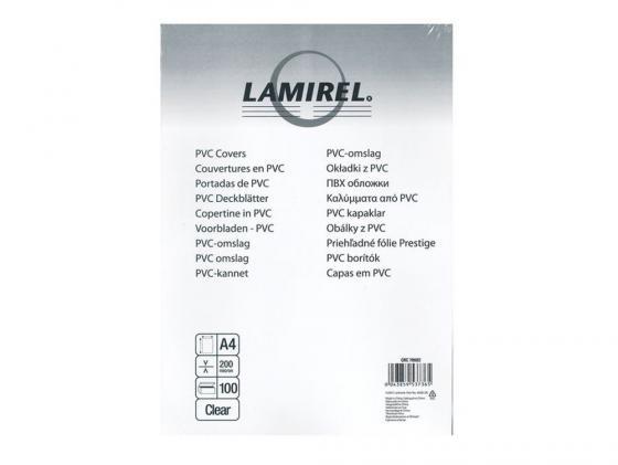 Обложка для переплетов Fellowes Lamirel A4 200мкм прозрачный 100шт CRC 78682