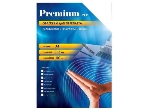 Обложки Office Kit PBA400180 А4 0.18мм прозрачный синий 100шт banger kit