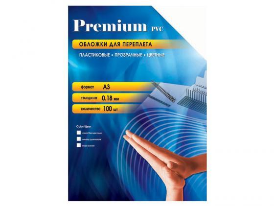 Обложки Office Kit PBA300180 А3 0.18мм прозрачный синий 100шт office kit s240 3 9х25