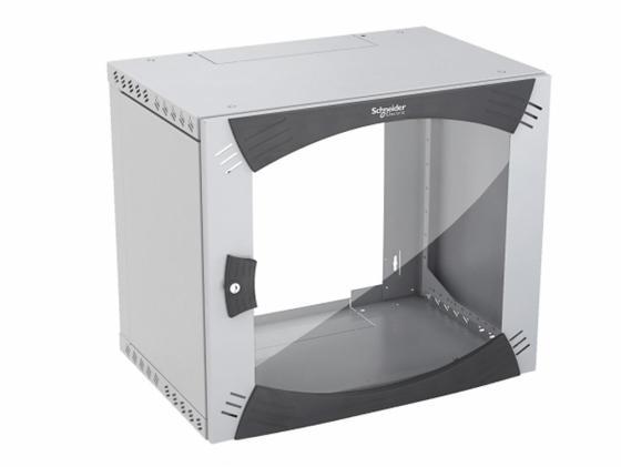 Шкаф настенный 19 Schneider Electric Actassi NSYOPB9U4P с повор. рамой schneider electric actassi 10 vdi88290 10pcs