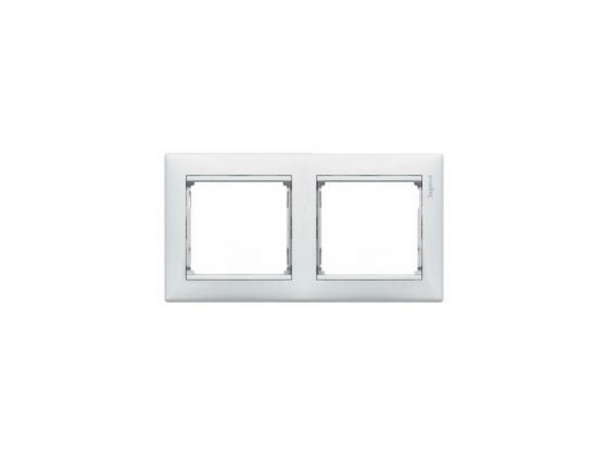 Рамка Legrand Valena двухместная белая 774452