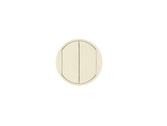 Лицевая панель Legrand Celiane для выключателя двойного слоновая кость 66201 от Just.ru