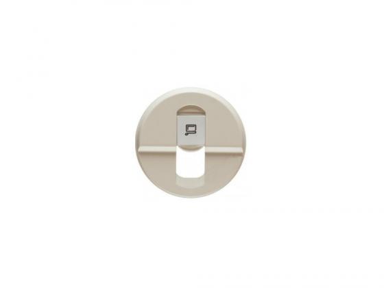 Лицевая панель Legrand Celiane для розетки RJ45 слоновая кость 66235