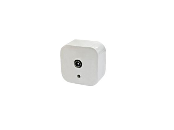 Розетка Legrand Quteo для TV белый 782215 выключатель двухклавишный наружный бежевый 10а quteo