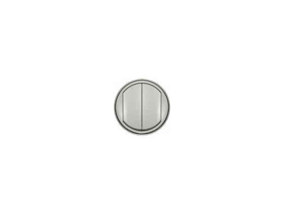 Лицевая панель Legrand Celiane для выключателя двойного титан 68302 переключатель legrand celiane на 2 направления нажимной 6ах 67015