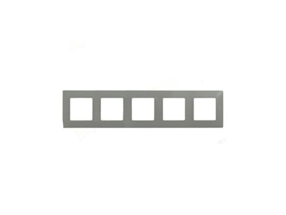 Рамка Legrand Etika 5 постов серый 672525