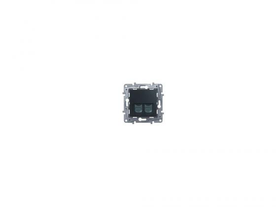 Розетка информационная Legrand Etika RJ11+RJ45 кат. 5 UTP антрацит 672652
