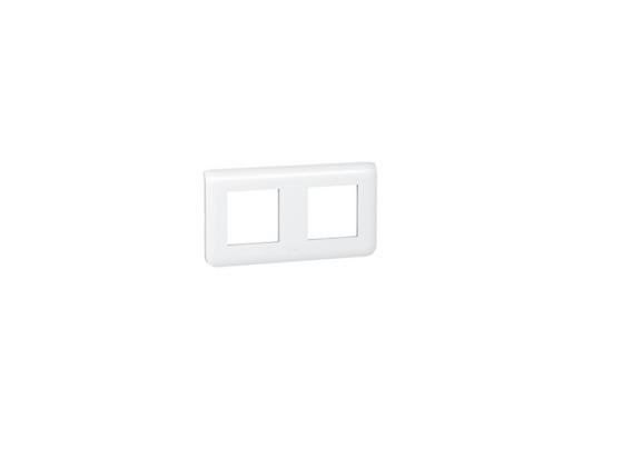 цены Рамка Legrand Mosaic 2х2 модуля горизонтальная 78804