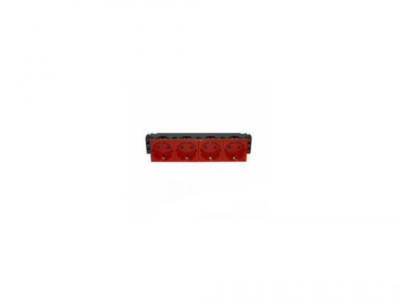 Розетка Legrand Mosaic 4х2К+З 77624 розетка legrand mosaic dlp 2х2к з 77422