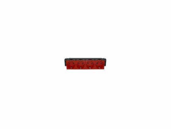 Розетка Legrand Mosaic 8М 4х2К+З красный 77614 розетка legrand mosaic 6м 3х2к з 77613