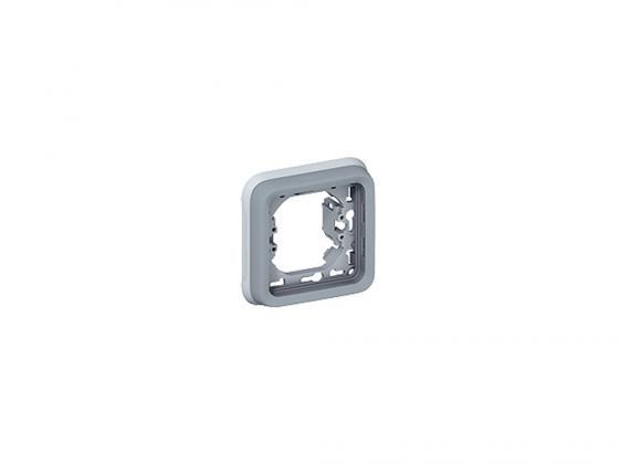Рамка Legrand Plexo 1 пост серый 69681  монтажная коробка legrand plexo 1 пост белый 69689