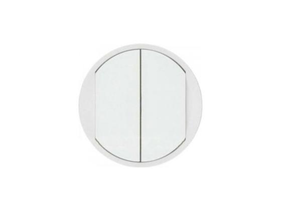 Лицевая панель Legrand Celiane для для выключателя двойного белый 68002 переключатель legrand celiane на 2 направления нажимной 6ах 67015