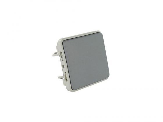 Переключатель Legrand Plexo 10А серый 69511  монтажная коробка legrand plexo 1 пост белый 69689