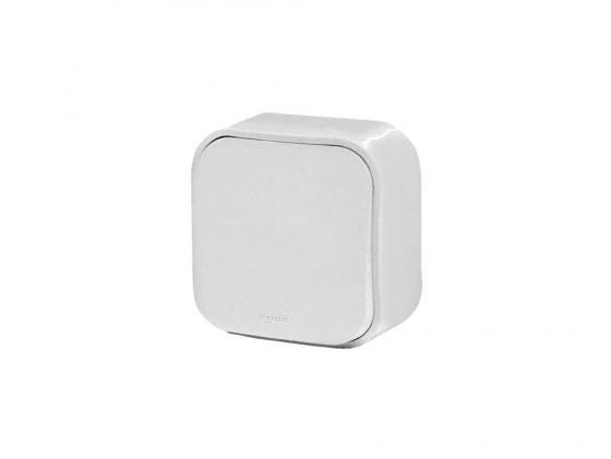 Одноклавишный переключатель Quteo 10A белый 782204 выключатель двухклавишный наружный бежевый 10а quteo