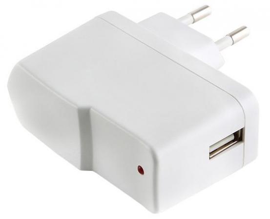 Сетевое зарядное устройство Gembird MP3A-UC-AC1 1A белый