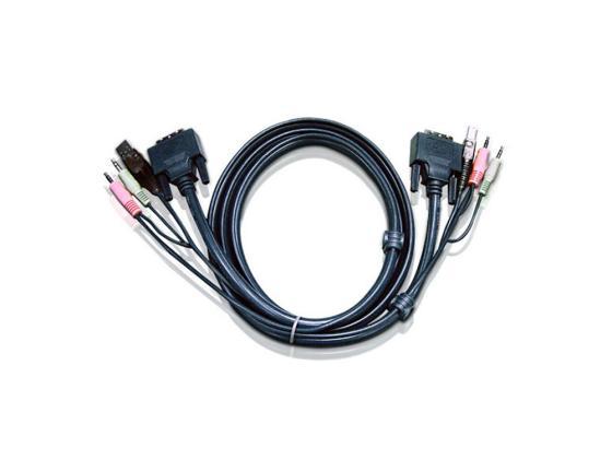 Кабель ATEN 2L-7D02UI DVI-I/USBA/SP.MC-DVI/USB B 1.8м цена
