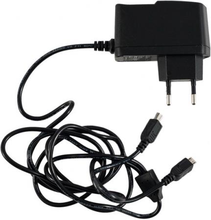 Сетевое зарядное устройство KS-is Mich KS-003 2А microUSB miniUSB черный