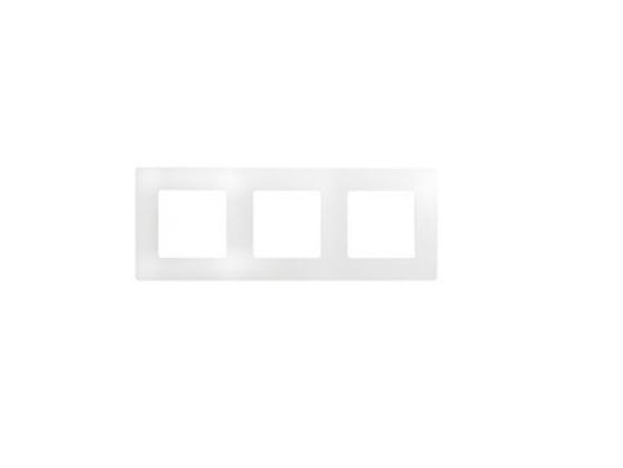 Рамка Legrand Etika 3 поста белый 672503  цена и фото