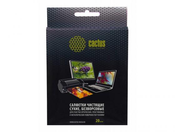 Чистящие салфетки Cactus CS-T1003 20 шт цена