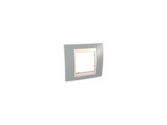Рамка 1 пост серый/бежевый Schneider Electric MGU6.002.565 рамка 3 пост бежевый schneider electric artec mtn481344