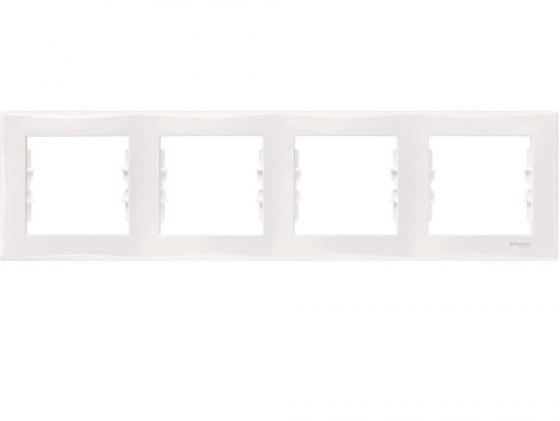 Рамка 4 пост белый Schneider Electric SDN5800721