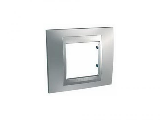 все цены на Рамка 1 пост серебристый Schneider Electric MGU66.002.038 онлайн