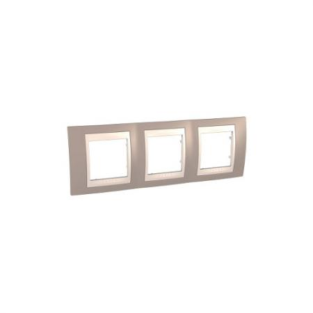 Рамка 3 пост коричневый/бежевый Schneider Electric MGU6.006.574