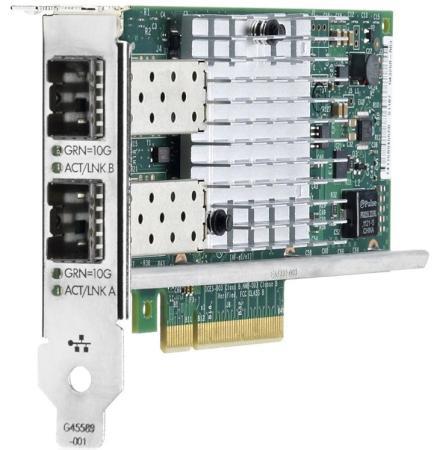 Адаптер HP Ethernet 560SFP 2x10Gb для DL165 580 585 980G7 Gen8 Gen9 665249-B21 цена и фото