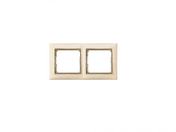 Рамка Legrand Valena 2 поста слоновая кость/золотистый 774152  рамка legrand valena 2 поста белый 774456