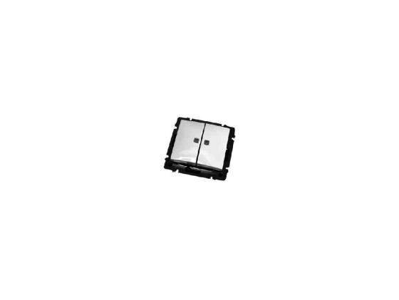 Выключатель Legrand Valena 2-клавишный с подсветкой 774428 выключатель legrand valena 2 клавишный алюминий 770105