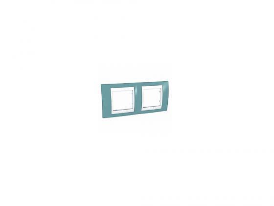 Рамка 2 пост синий/белый Schneider Electric MGU6.004.873