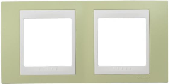 Рамка 2 пост зеленый/белый Schneider Electric MGU6.004.863