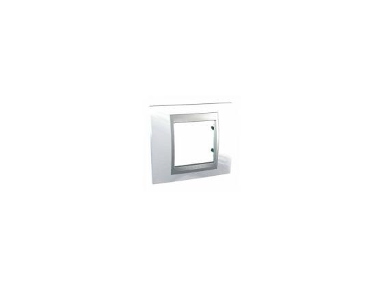 Рамка 1 пост нордик/алюминий Schneider Electric Unica Top MGU66.002.092 рамка 1 пост оникс графит schneider electric mgu66 002 296