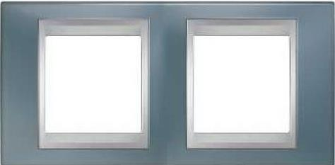 все цены на Рамка 2 пост серый/алюминий Schneider Electric Unica Top MGU66.004.097 онлайн