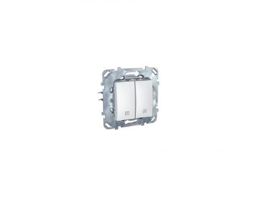 Выключатель Schneider Electric 2-клавишный для жалюзи белый MGU5.208.18ZD выключатель 3 клавишный schneider electric glossa титан