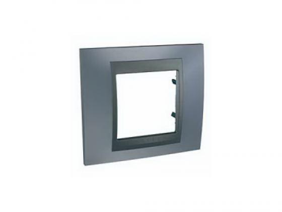 Рамка 1 пост серый/графит Schneider Electric Unica Top MGU66.002.297 рамка 1 пост оникс графит schneider electric mgu66 002 296